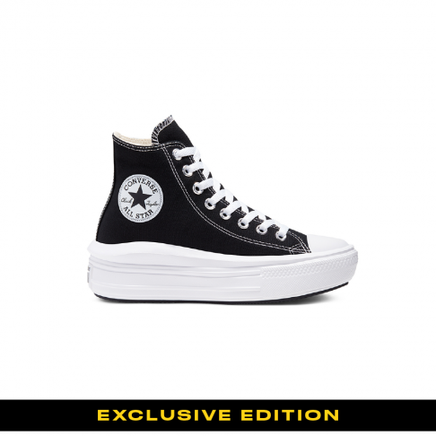 נעל נשים קונברס CHUCK TAYLOR ALL STAR MOVE HI BLACK
